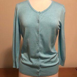 Halogen Cardigan Sweater Light Blue Large